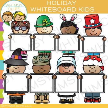 Holiday Whiteboard Kids Clip Art