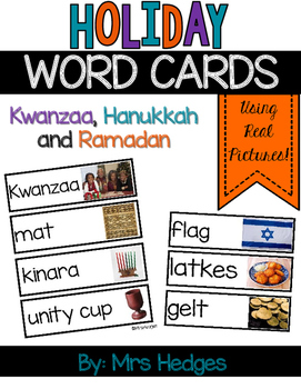 Holiday Word Cards