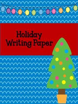 Holiday Writing Paper {Freebie!}