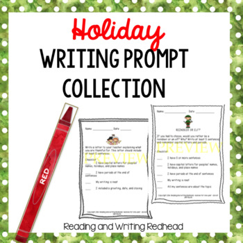 Holiday Writing Prompt Collection-Christmas & Thanksgiving