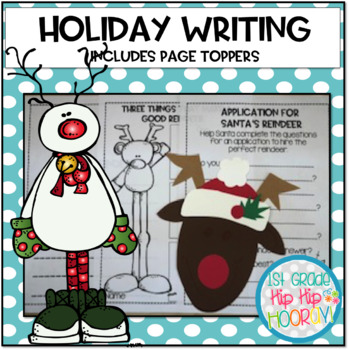 December Writing with Page Toppers...simple craft and writ