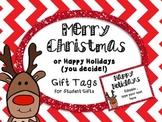Holiday and Christmas Gift Tags EDITABLE Freebie!!