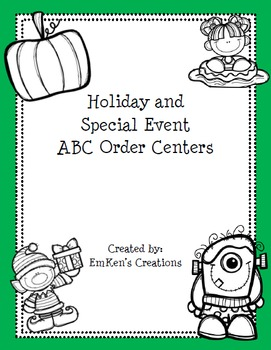 Holiday and Special Event ABC Order Centers