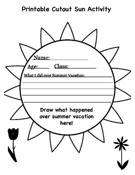 Holiday/Break Activity Printables
