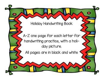 Holiday/Christmas Handwriting Book