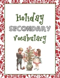 Holiday/Christmas Vocabulary Packet for Middle/High School