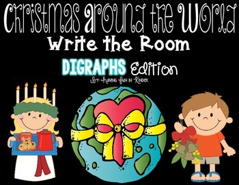 Holidays Around the World Write the Room - Digraph Edition