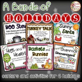Holidays Bundle ~ Centers and Activities for 6 Holidays