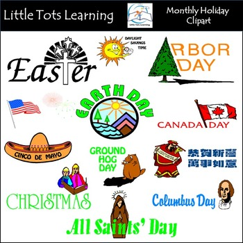Monthly Holiday Clip Art