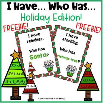 Holidays I Have Who Has Freebie