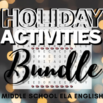 Holidays Worksheets & Activities Bundle