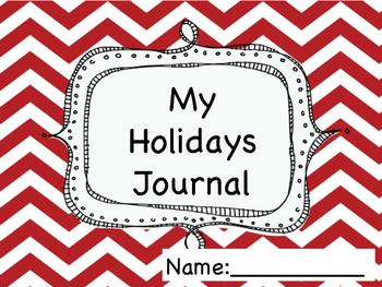 Holidays Writing Journal