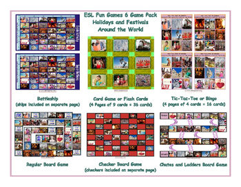 Holidays and Festivals Around the World 6 Board Game Bundle