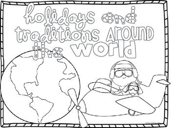 Holidays and Traditions Around the World Bubble Map Book