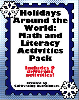 Holidays Around the World: Literacy and Math Center Activi