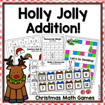 10 Christmas Addition Games - Holly Jolly Math!