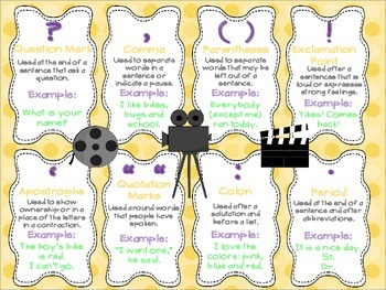 Punctuation Poster Hollywood Movie Theme