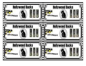 Hollywood Theme - Hollywood Bucks - Classroom Management