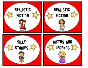 Hollywood Classroom Library Book Bin Labels
