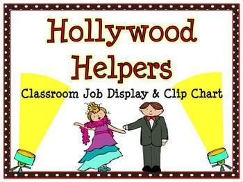 Hollywood Helpers Classroom Jobs Display & Clip Chart