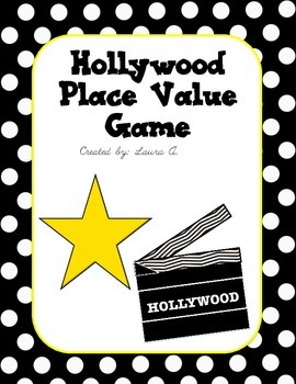 Hollywood Place Value Board Game