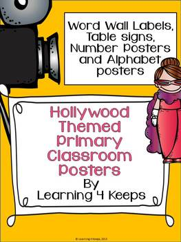 Hollywood Primary Poster Set