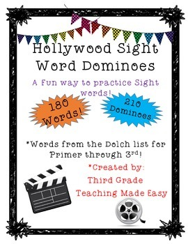 Hollywood Sight Word Dominoes