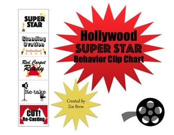 Hollywood Superstar Behavior Clip Chart