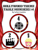Hollywood Table Numbers 1-8 Marquee Lights
