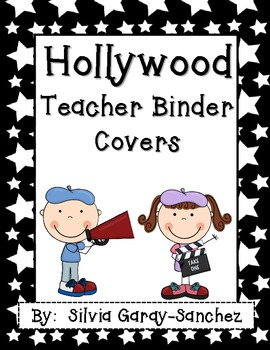 """Hollywood Teacher Binder Covers and 2"""" Spines"""