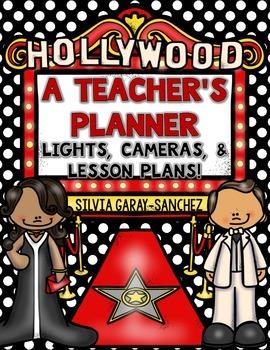 Hollywood Teacher Lesson Planner, Grade Book, and Calendar