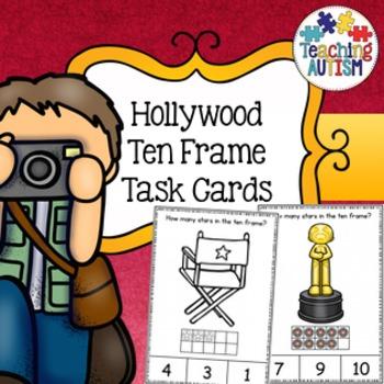 Hollywood Ten Frame Task Cards