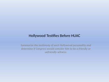 Hollywood Testifies before HUAC