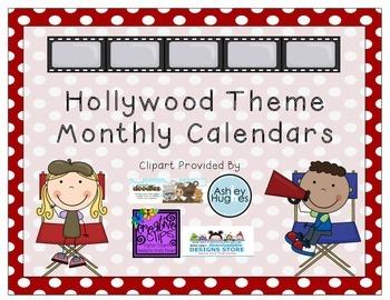 Hollywood Theme- Blank Calendars