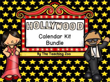 Hollywood Theme Calendar Kit Bundle