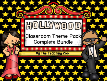 Hollywood Theme Complete Classroom Decor Bundle