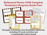 Hollywood Theme Grade Two CCSS Complete Vocabulary Program