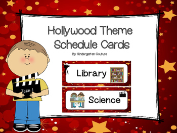 Hollywood Theme Schedule Cards