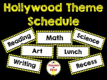 Hollywood Theme Schedule- NEW!