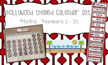 Hollywood Themed Calendar Set