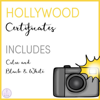 Hollywood Themed Certificates