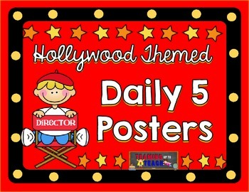 Hollywood Themed Daily 5 Posters