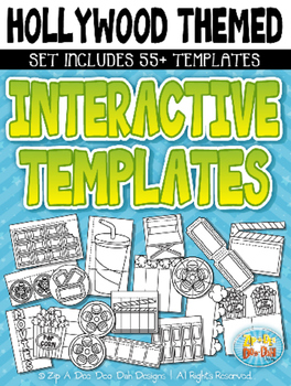 Hollywood Themed Flippable Interactive Templates — Include