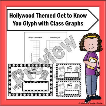 Hollywood Themed Get to Know You Glyph with Graphs