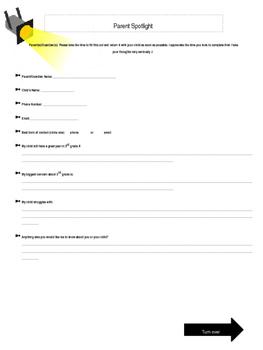 Hollywood Themed-Parent Survey (Editable)