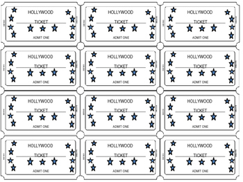 Hollywood Ticket Template