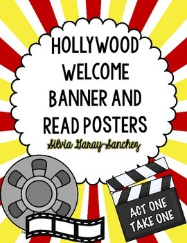 Hollywood Welcome Banner and READ Posters