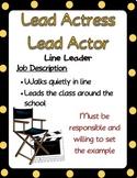 Hollywood classroom job descriptions