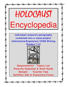 Holocaust Intro Project: Class Encyclopedia 7-10  Complete