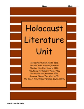 Holocaust Novels Unit Plan